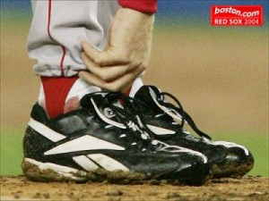 Curt Schilling's bloody sock
